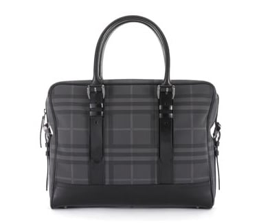 $795 Burberry Check Laptop Bag