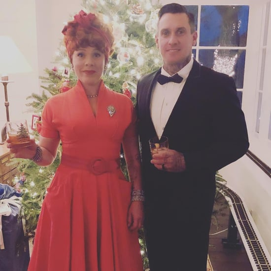 Pink and Carey Hart Dressed as I Love Lucy Couple