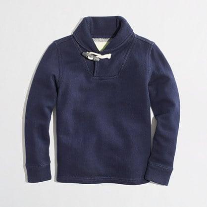 A Shawl Collar Sweatshirt