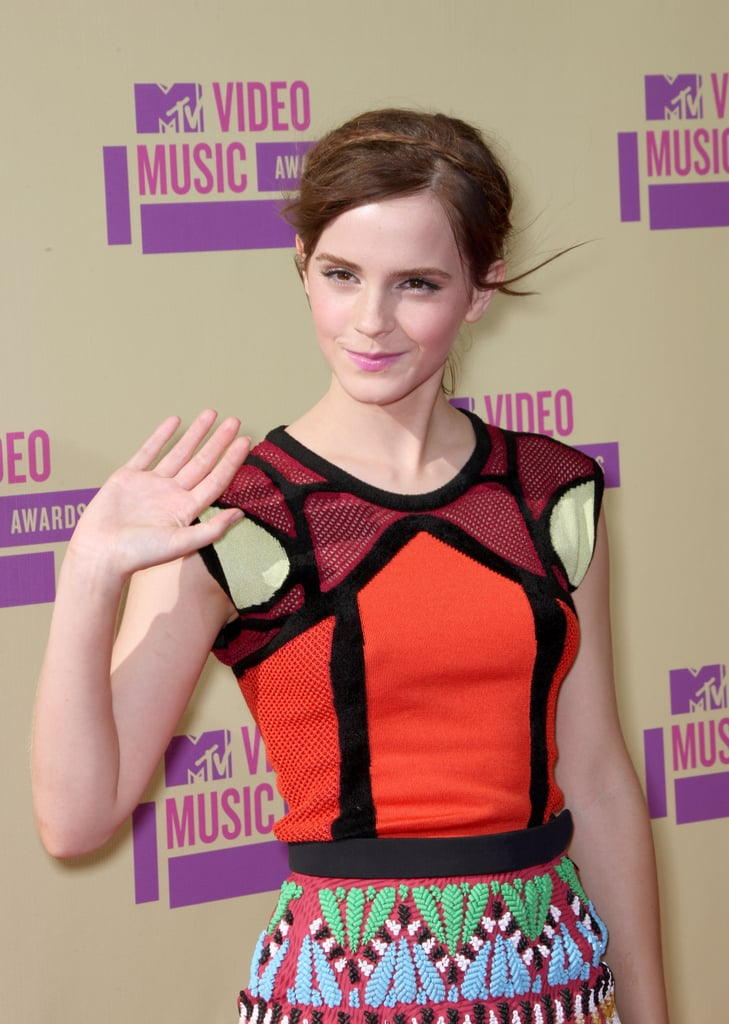 Emma Waston waved at the VMAs.