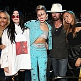 Tish, Noah, Miley, Billy Ray, and Brandi Cyrus
