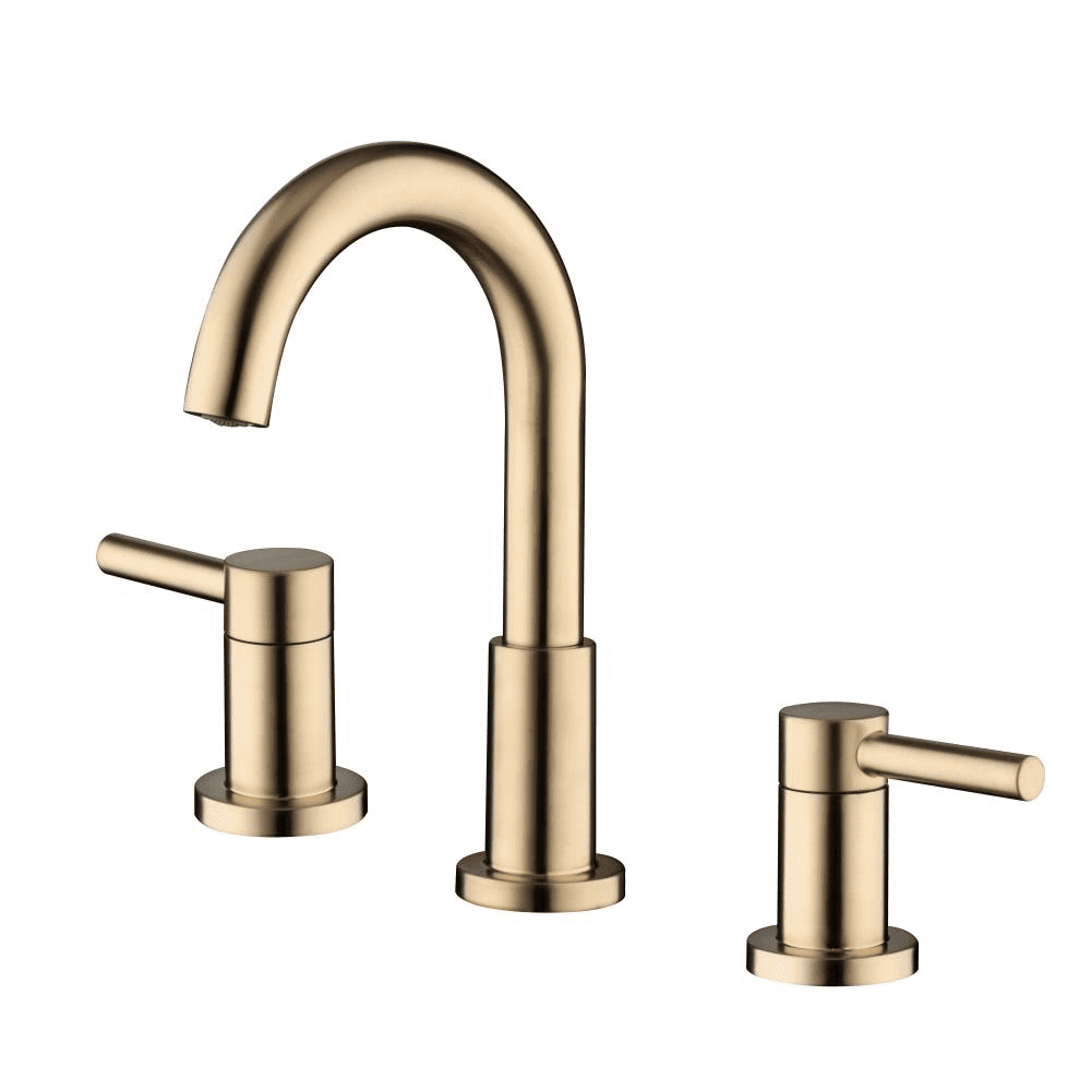 allen + roth Harlow Brushed Bronze Two-Handle Sink Faucet