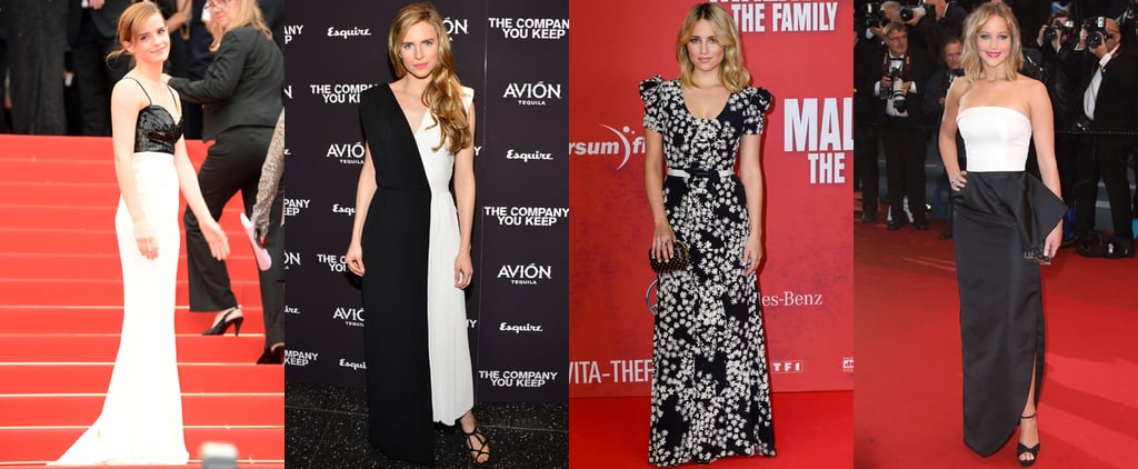 Black and White Red Carpet Dresses