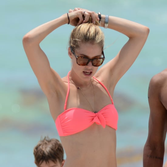Doutzen Kroes Pictures in Orange Bikini