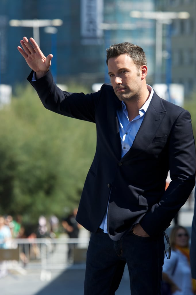 Ben Affleck stepped out at the San Sebastián International Film Festival yesterday. Ben's in Spain promoting his latest directing project, Argo. The film, based on actual events that took place in the '70s, made its world premiere in Toronto earlier this month and opens in the US Oct. 21. Jennifer Garner joined Ben for the Canadian premiere, however she skipped out on this trip to hang close to home with Violet, Seraphina, and Samuel. Ben's got a big month full of premieres, talk shows, and promotional events to look forward to. He can look forward to chatting about the film, his family, and his upcoming projects with best friend Matt Damon. Matt and Ben have plans to produce Race to the South Pole and are developing a script based on the life of famed Boston gangster Whitey Bulger. Working together should be a breeze for the pair since Matt recently purchased a Pacific Palisades, CA, home just down the street from Ben.