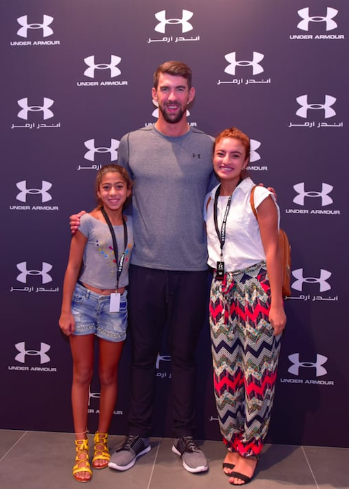 Michael Phelps Opens Under Armor At The Dubai Mall