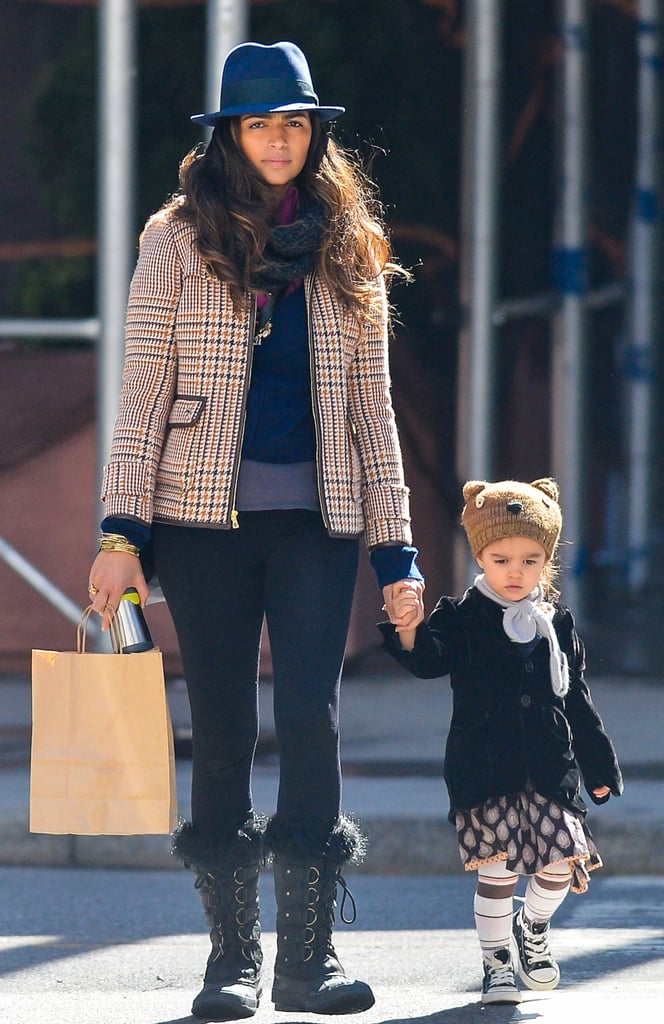 Camila Alves held hands with Vida in NYC.