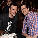 Jimmy Kimmel and Andy Samberg sat together in the audience.