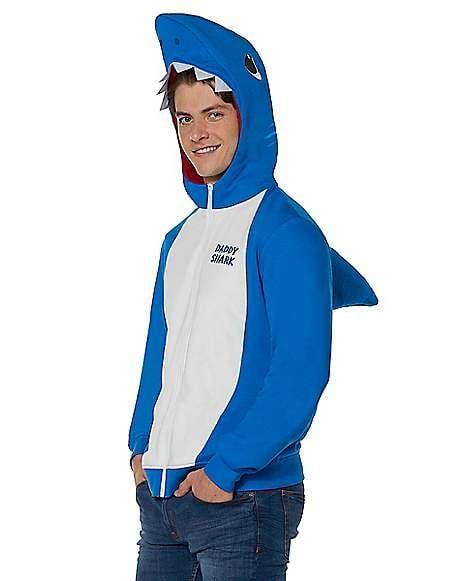 Adult Daddy Shark Costume Hoodie Baby Shark