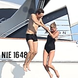 Kate Moss and Jamie Hince took a dive.