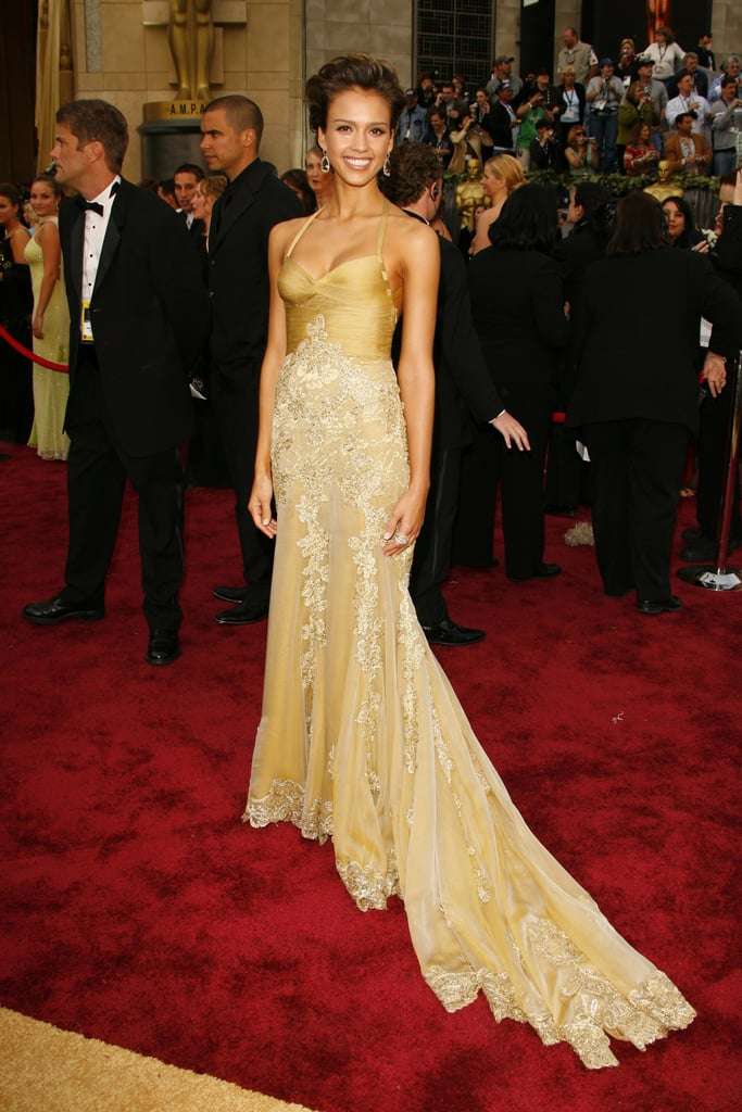 Jessica Alba in Versace at the Academy Awards