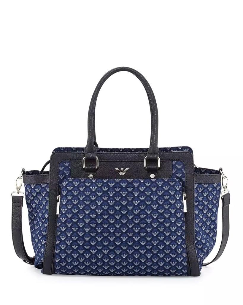8d5763beebcc Armani Junior Canvas Logo Diaper Bag