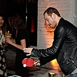 Michael Fassbender plays a little ping-pong at a party during the 2011 Toronto International Film Festival.