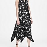 Banana Republic Floral Handkerchief-Hem Dress