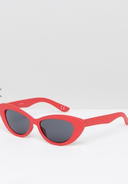 Asos Small Pointy Cat Eye Sunglasses ($24)        Discount: For 30% off enter FRENZYGO at checkout.