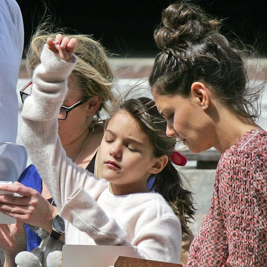 Katie Holmes and Suri Cruise in Cape Town
