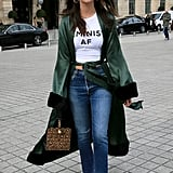 Take Your Long Silk Robe Onto the Streets by Pairing It With Jeans
