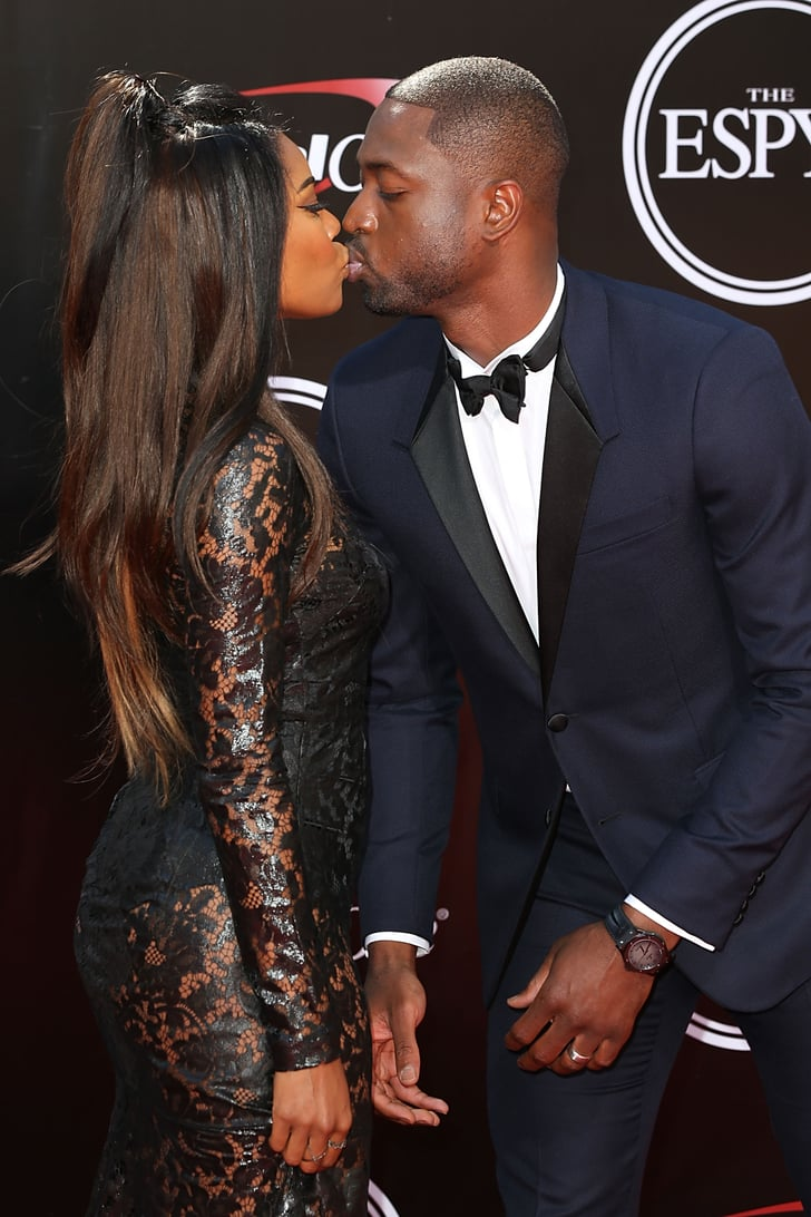 Gabrielle and Dwyane shared a sweet kiss on the ESPYs red carpet in 2016.