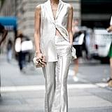 Chriselle Lim at New York Fashion Week