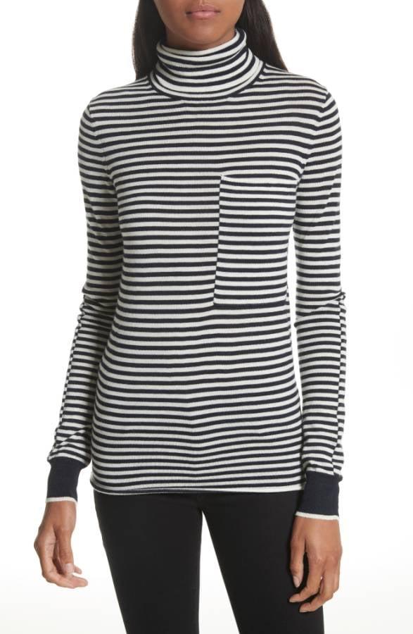 b155e1186902 Joseph Stripe Wool Turtleneck Sweater