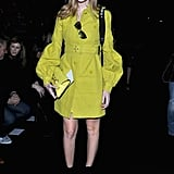 Chiara Ferragni wore Gucci at the Alberta Ferretti Fall 2013 show in Milan.