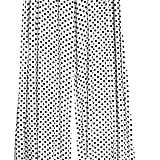 ZJ Clothes Womens Wide Leg Flattering High Waist Stretch Palazzo White Polka Dot