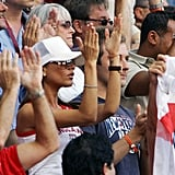 Victoria Beckham mixed into the crowd at a June 2004 match in Lisbon.