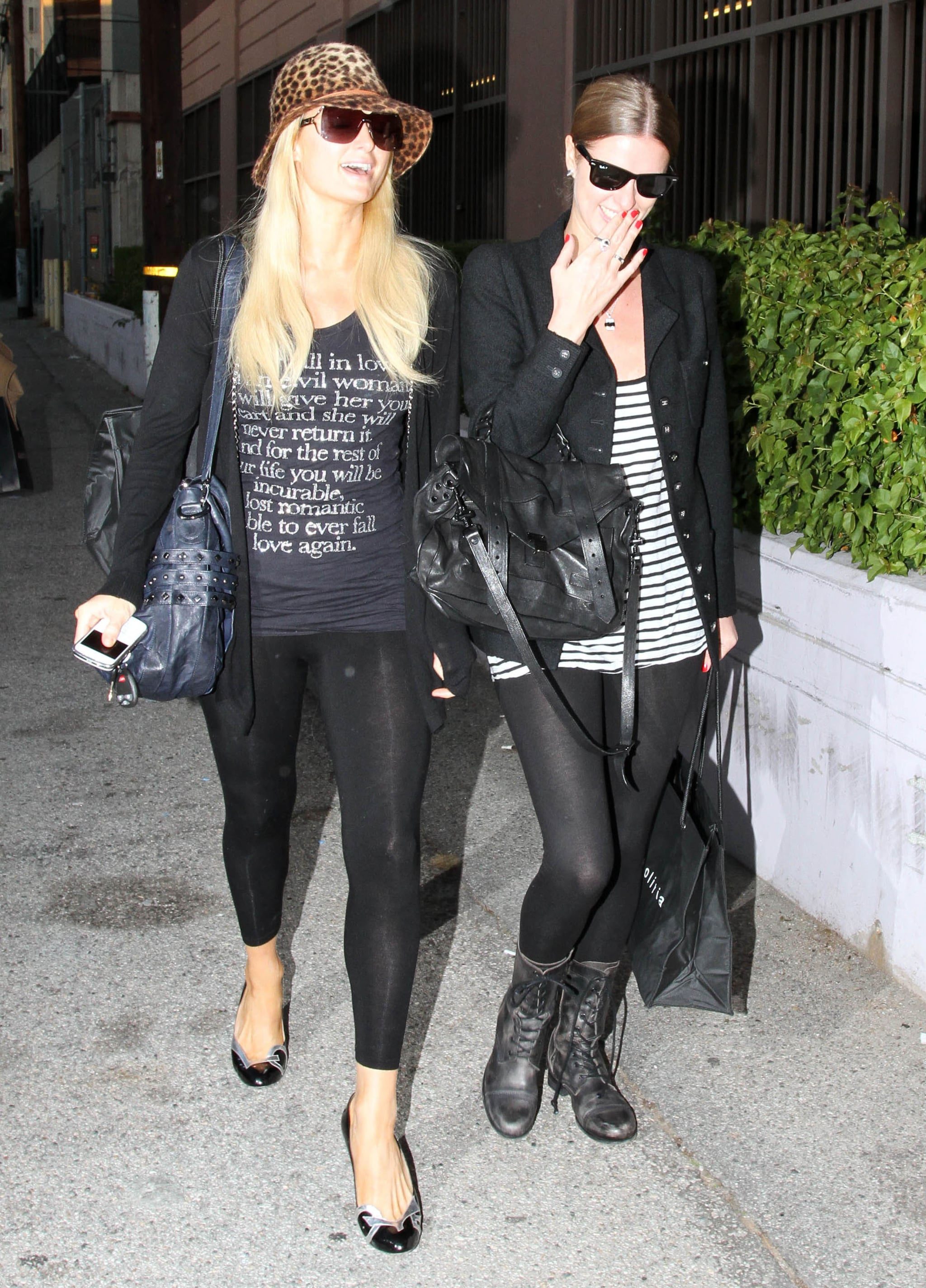 pictures of paris hilton and nicky hilton shopping in west hollywood