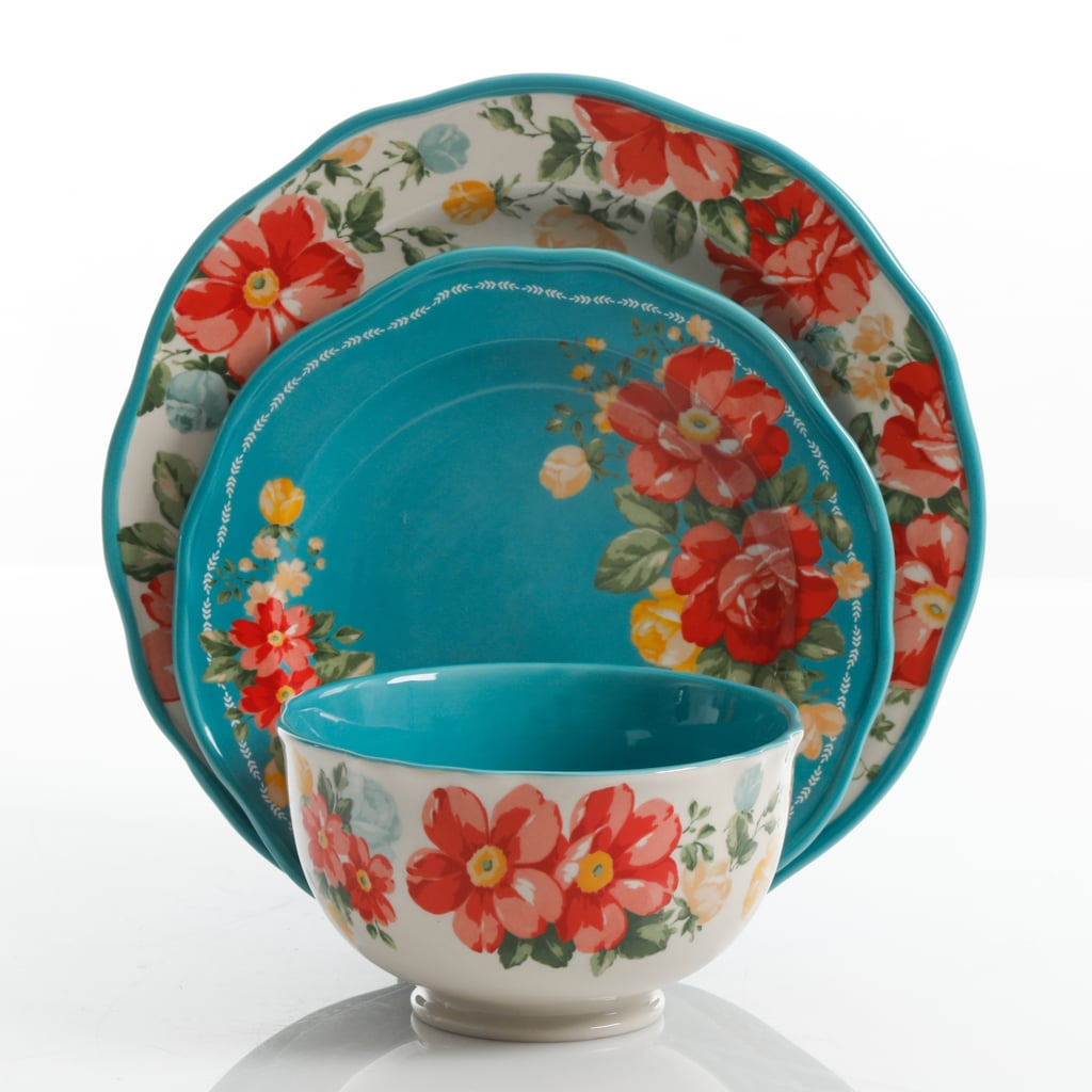 Vintage Floral 12-Piece Dinnerware Set  sc 1 st  Popsugar & Vintage Floral 12-Piece Dinnerware Set   The Pioneer Woman Fall ...