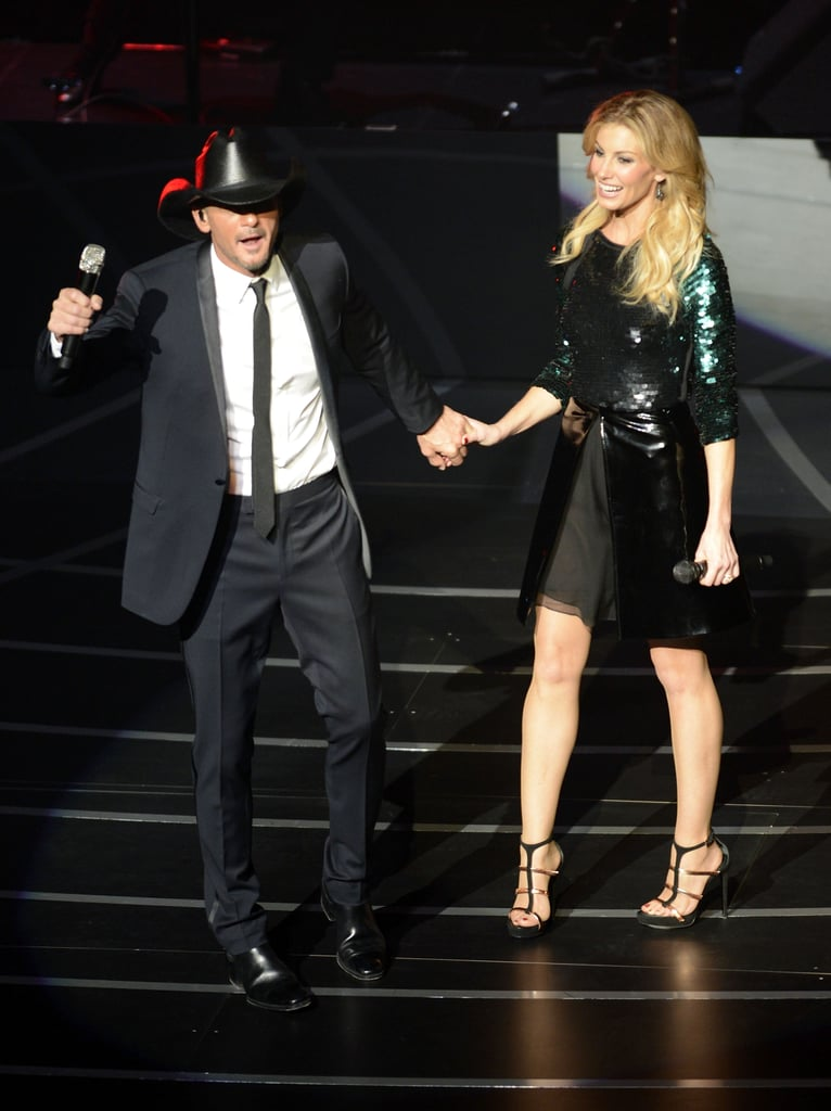 "Faith Hill and Tim McGraw took the stage for the opening weekend of their new Soul2Soul series at The Venetian on Saturday. They sang hits like ""Breathe"" and ""Live Like You Were Dying,"" and also teamed up for the popular ""It's Your Love."" The couple took a break from belting out their favorites to sit down and chat with the crowd in an intimate conversation. Tim and Faith will continue to perform with a string of shows that goes through April of next year, and their first few proved to be successful. Faith tweeted, ""The first weekend at Venetian is over. Great time. Making some lasting memories here, that is for sure! Thank you,"" while Tim added, ""Now that was fun...crowds were awesome tonight."""