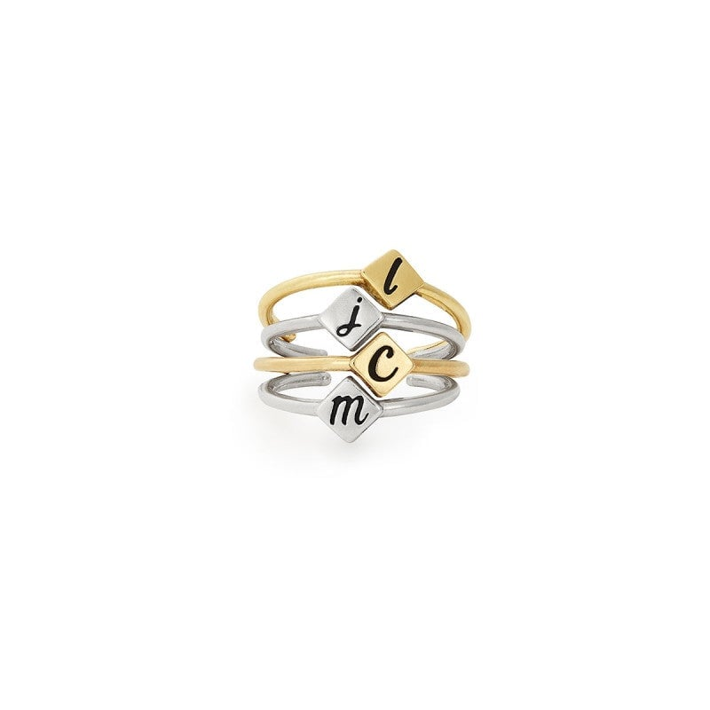 Alex and Ani Initial Adjustable Ring