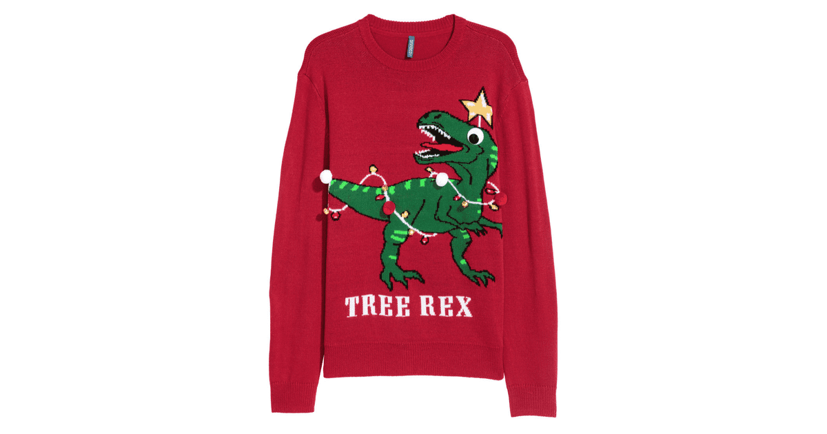"""Tree Rex"" Christmas Sweater"