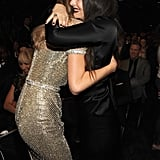 Lorde and Taylor Swift embraced in the audience.
