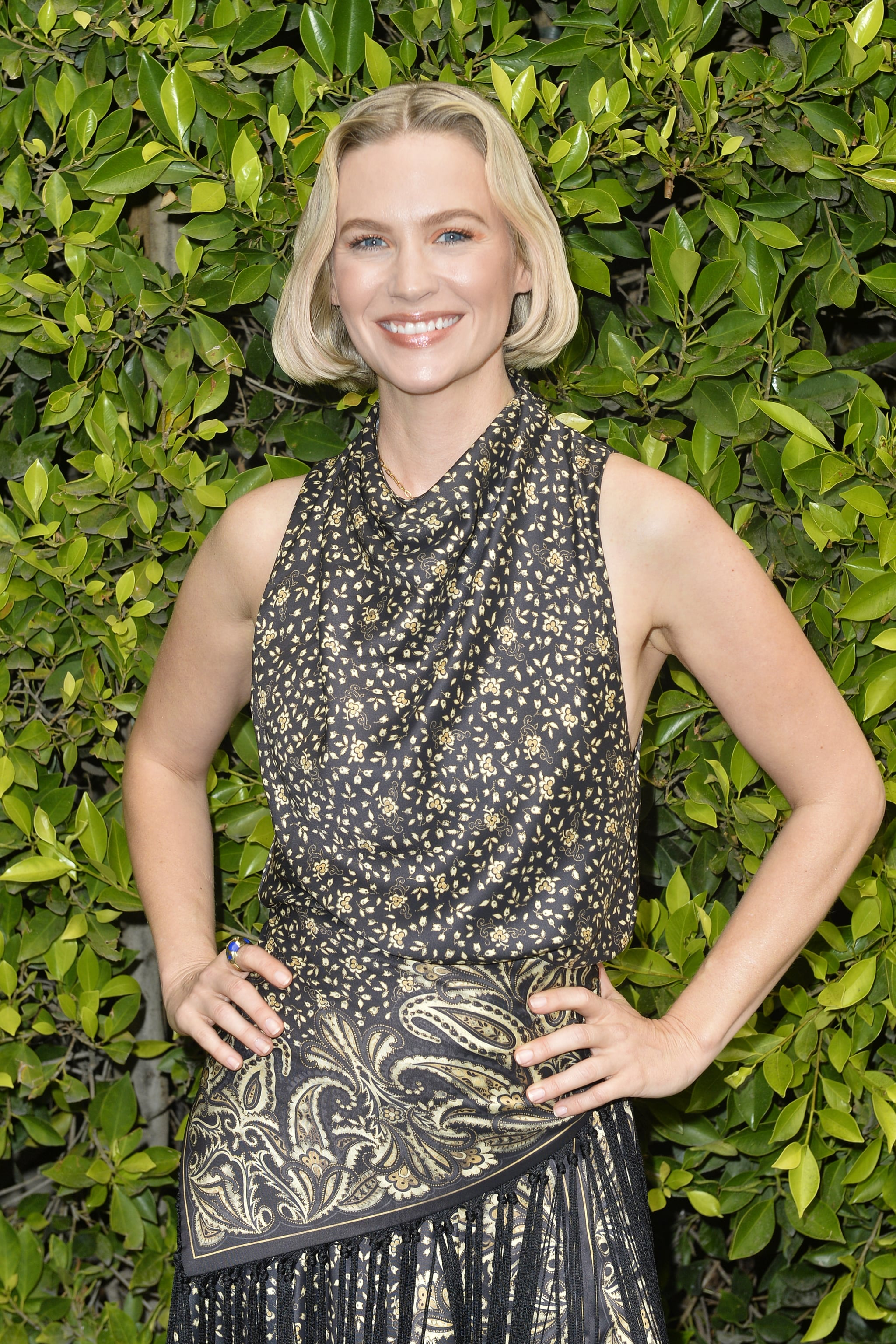 WEST HOLLYWOOD, CALIFORNIA - MARCH 10: January Jones attends Children's Hospital Los Angeles Make March Matter Fundraising Campaign at Jonathan Simkhai on March 10, 2020 in West Hollywood, California. (Photo by Jerod Harris/Getty Images)