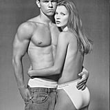 In 1992, Mark (along with a young Kate Moss) posed for Calvin Klein's underwear campaign shot by Herb Ritts.
