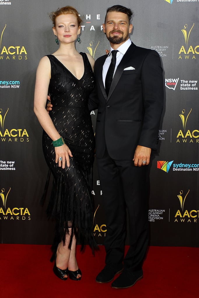 These Final Hours co-stars Sarah Snook and Nathan Phillips walked the red carpet together, with Sarah styling a fringed black dress with peep-toe pumps.