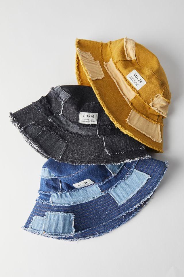 UO Frayed Patchwork Bucket Hat