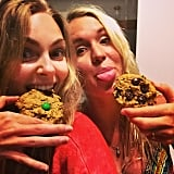 AnnaSophia Robb celebrated St. Patrick's Day with giant cookies.