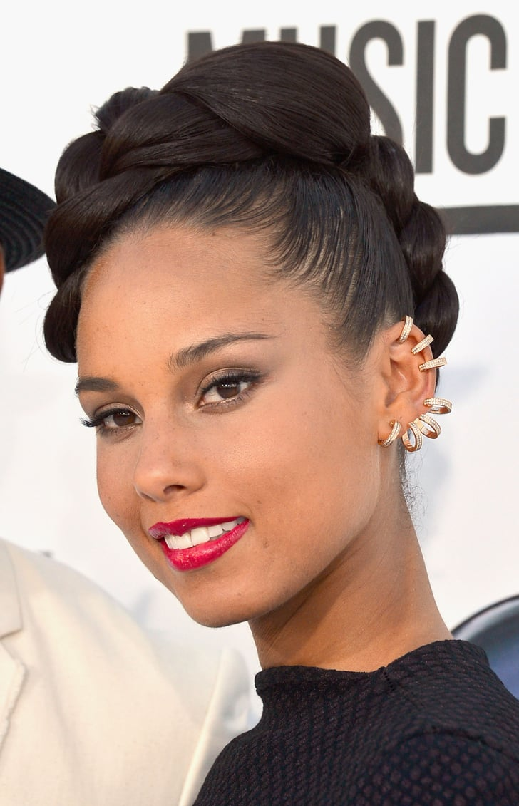 alicia key hair style billboard awards hair and makeup 5294 | Alicia Keys