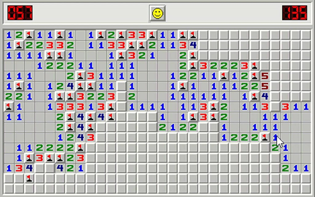 Sighing to yourself for the 10th time when you lost Minesweeper.