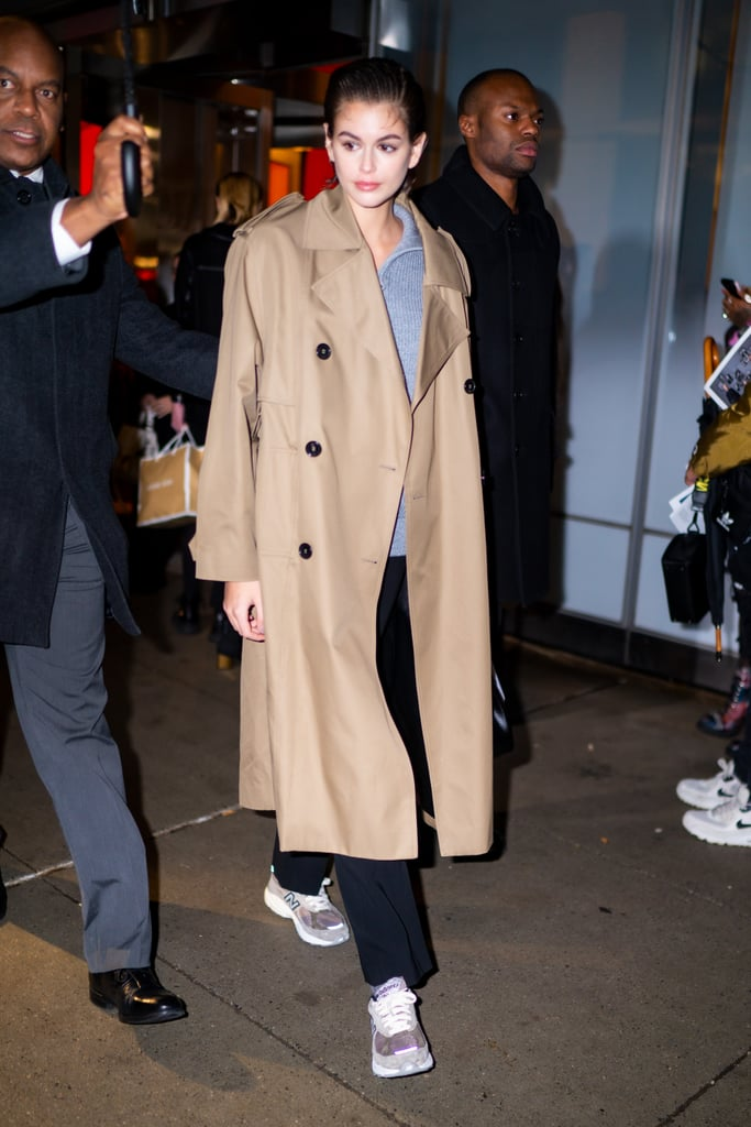 Kaia Gerber's Street Style at New York Fashion Week