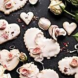 Lemon Rose Shortbread Cookies