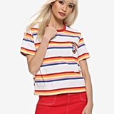 Stranger Things Max Striped Girls Ringer T-Shirt