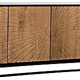 Celeste: Ra Sideboard, Hand Rubbed Black With Teak