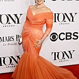 Fran Drescher stole the show in an orange frock.