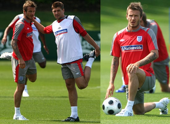 Photos of David Beckham Training With the England Squad as Rumours Suggest He Might Move to Chelsea