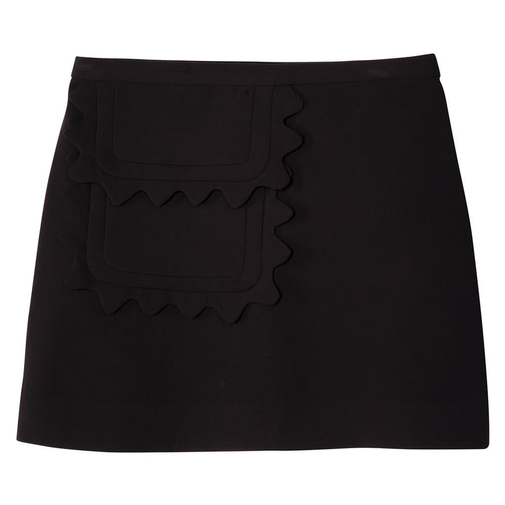 Black Twill Skirt with Scallop Trim Pocket ($30)