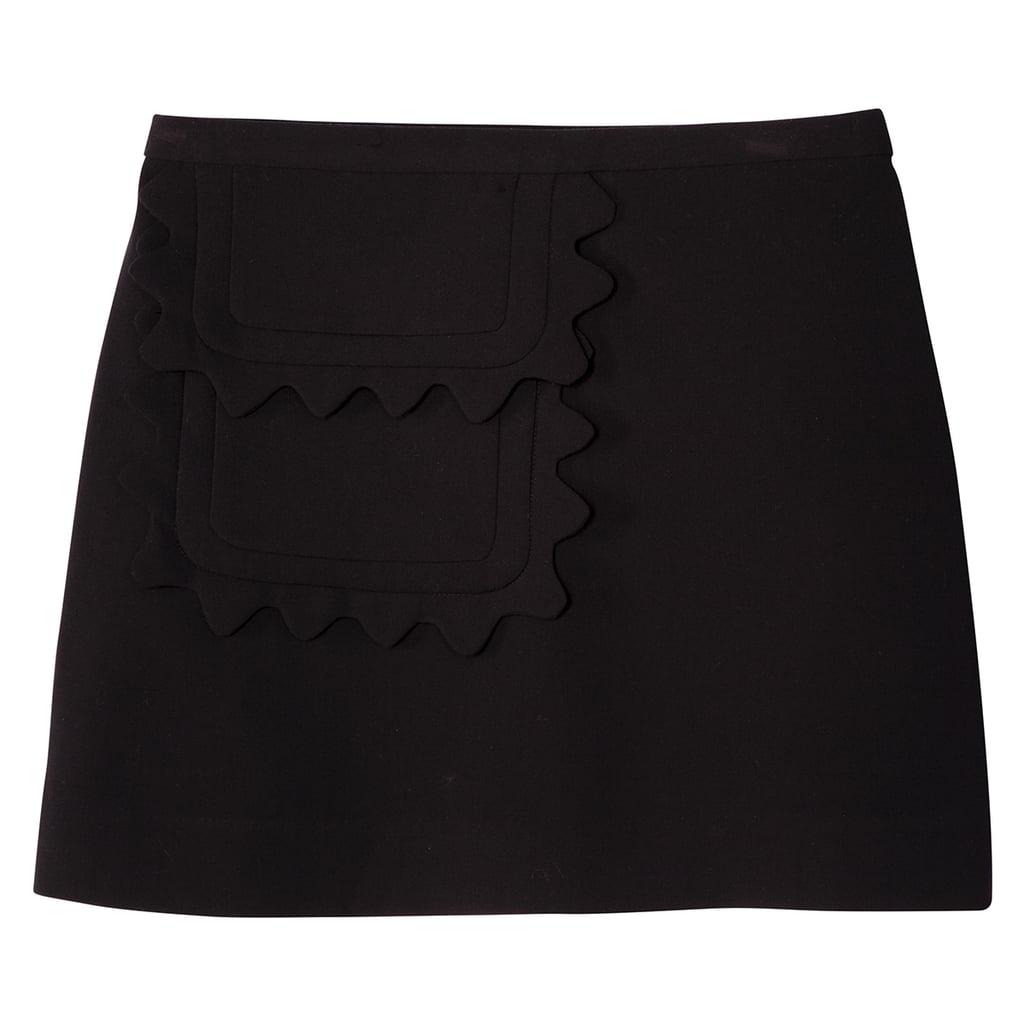 Black Twill Skirt with Scallop Trim Pocket ($30)