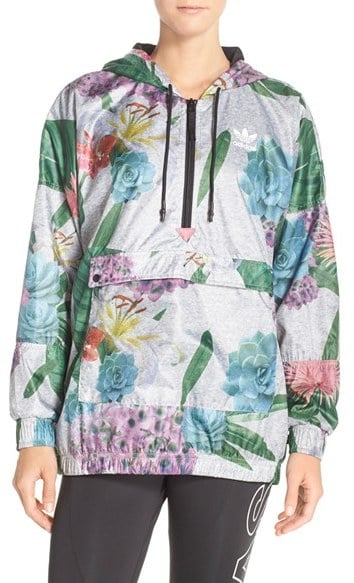 Adidas Floral Windbreaker Jacket