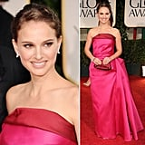 Presenter Natalie Portman brought statement-making brights to the red carpet, opting for a strapless, fuchsia-hued Lanvin gown.